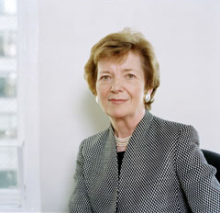 Headshot of former UN High Commissioner on Human Rights Mary Robinson