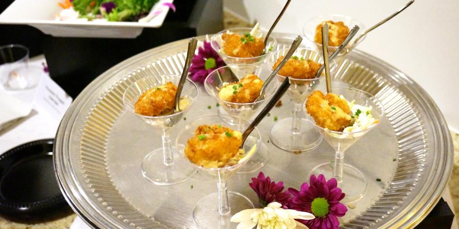 photo of food at wine tasting event
