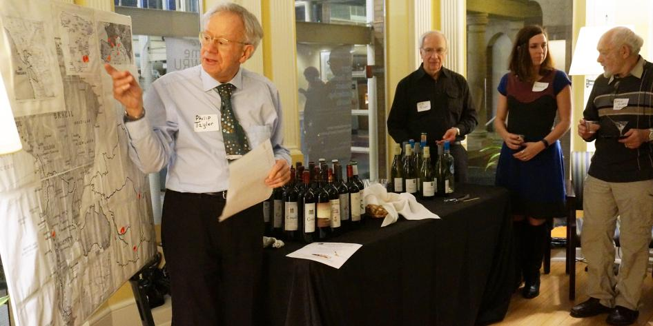 phillip taylor and map 3 at fac dev wine tasting