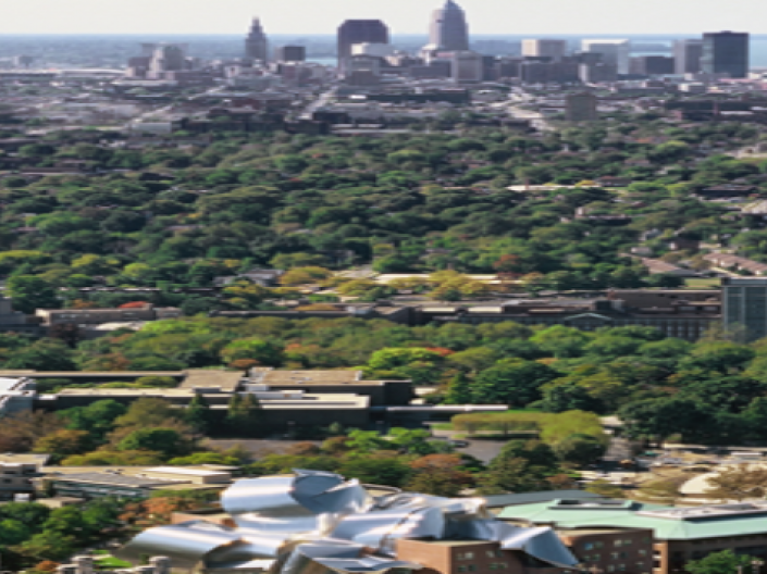 distant image of campus