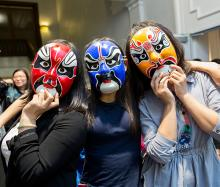 Case Western Reserve University Mid-Autumn Festival students wearing masks