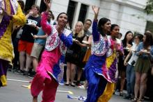 Case Western Reserve University Diversity 360 cultural dancing activity