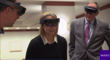Katie Couric using HoloLens