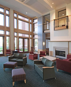 interior view of village at 115 apartment complex at case western reserve university