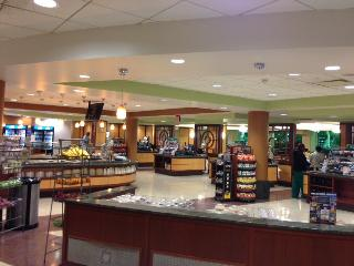 University Hospitals Atrium Cafe, with food stations and check out areas