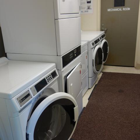 Smith House Laundry Room showing washing and drying machines