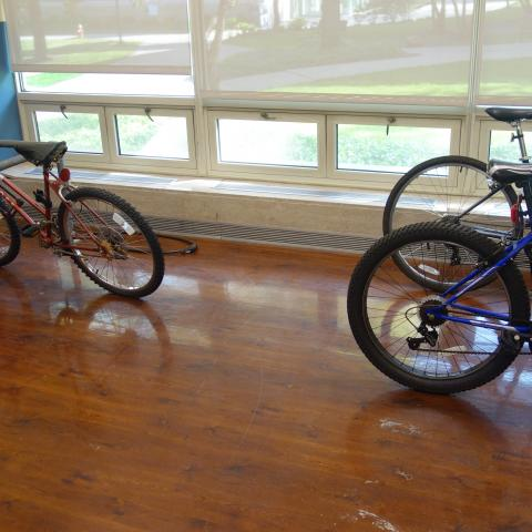 Tyler House Indoor Bike Room with bike racks