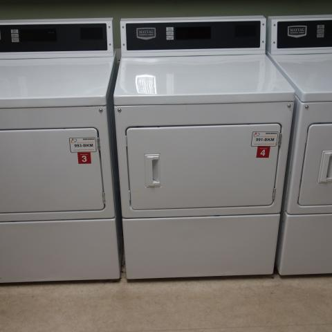 Cutler House 1st Floor Laundry Room with washing and drying machines