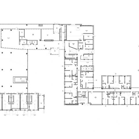 Stephanie Tubbs Jones Residence Hall floor layout for 1st Floor