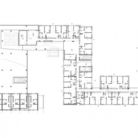 Stephanie Tubbs Jones Residence Hall floor layout for 2nd Floor