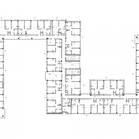 Stephanie Tubbs Jones Residence Hall floor layout for 4th Floor