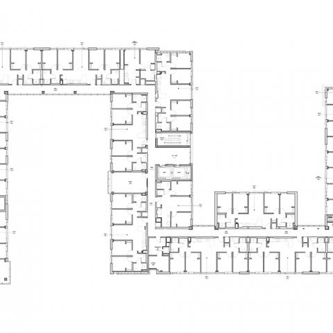Stephanie Tubbs Jones Residence Hall floor layout for 5th Floor