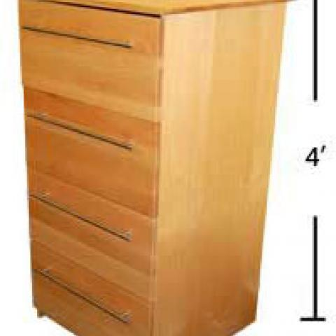 Village and STJ dresser with dimensions 4' tall, 2' long and 2' wide