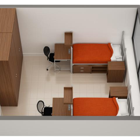 Sample double room layout