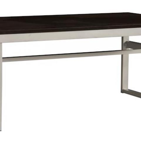 Hazel apartments steel frame and wood surface coffee table