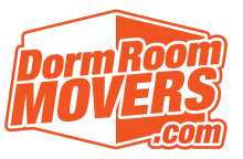 Dorm Room Movers.com logo in orange and white