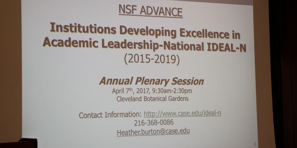 Picture of Presentation Slide NSF Advance Annual Plenary Session