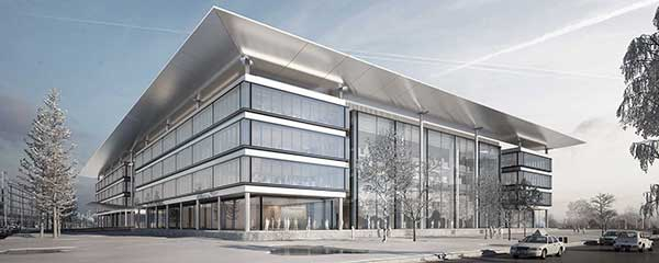 rendering of CWRU Cleveland Clinic Health Education Campus exterior
