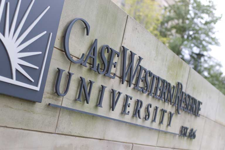 Photo of Case Western Reserve University Sign