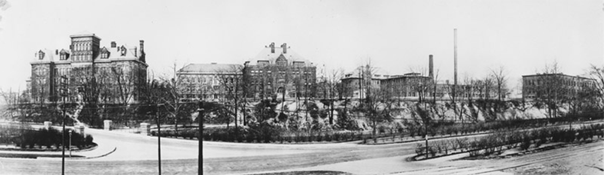 a view of the Case Western Reserve University campus taken in 1910