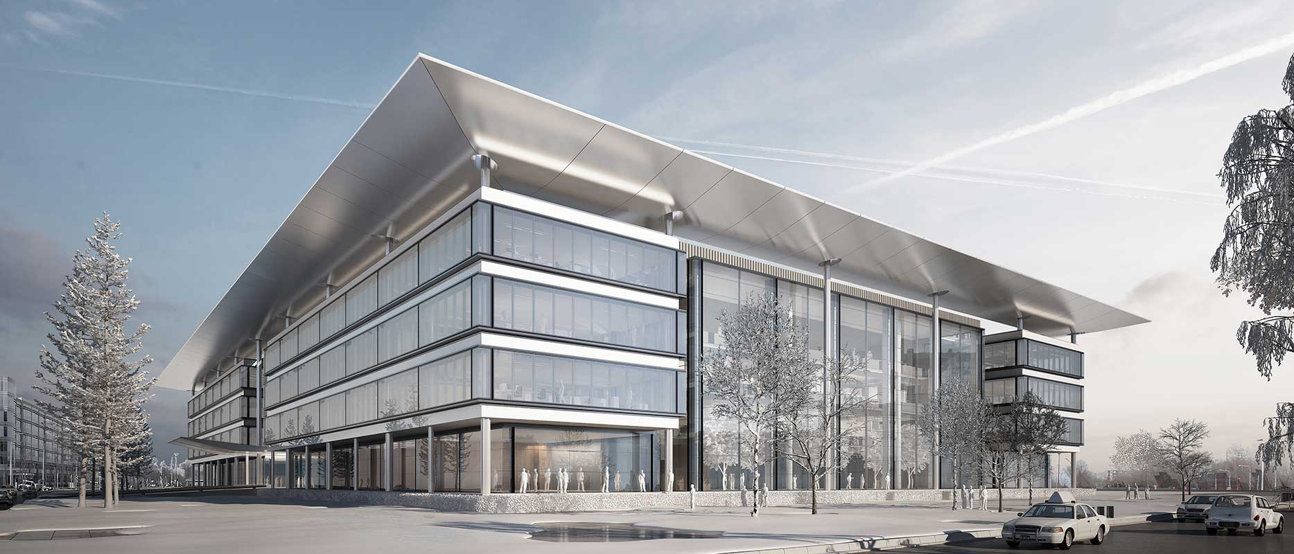 rendering of CWRU Cleveland Clinic Health Education Campus