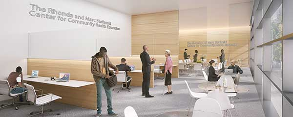 rendering of Stefanski Community Health Education Center at CWRU Cleveland Clinic Health Education Campus