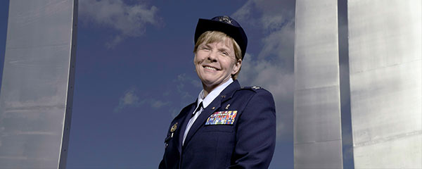 Sharon Bannister in her Air Force uniform.