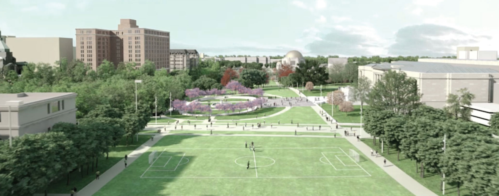 Rendering of the new green space