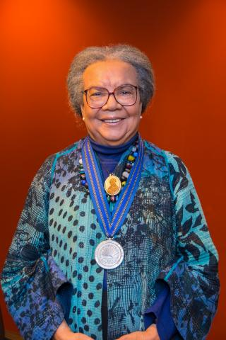 Marian Wright Edelman with medal