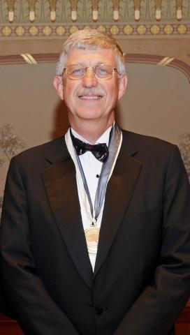 Dr. Francis S. Collins with medal