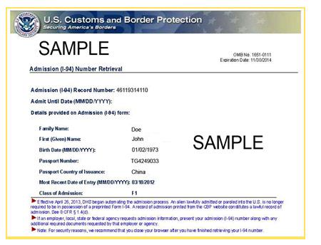 retrieve i-94 - Driver...I 94 Electronic Retrieval Cbp