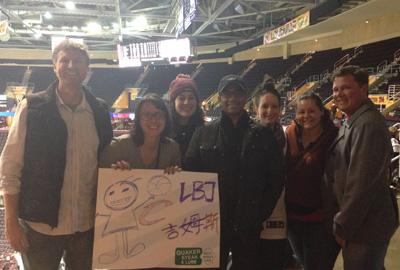 Students at a Cavaliers game