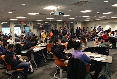 Students at a success series about visas and immigration