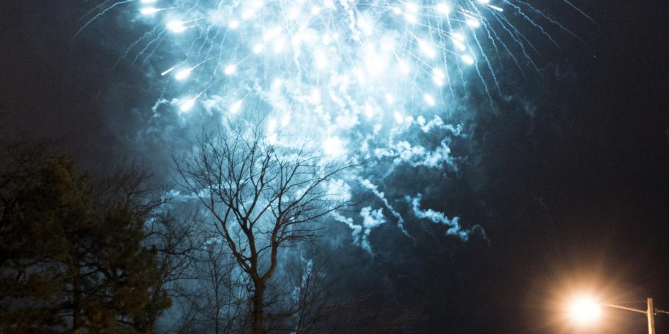 Fireworks are a central part of CWRU's Lunar New Year celebration