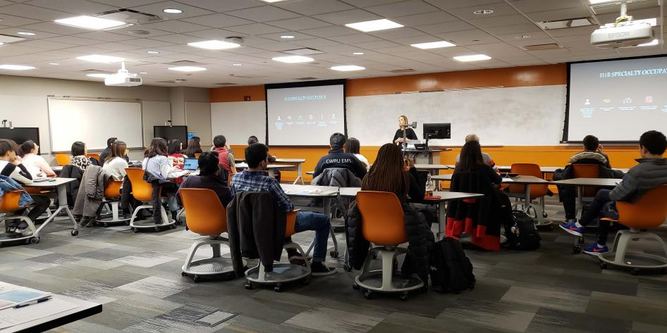 International students learn about H1-B visas
