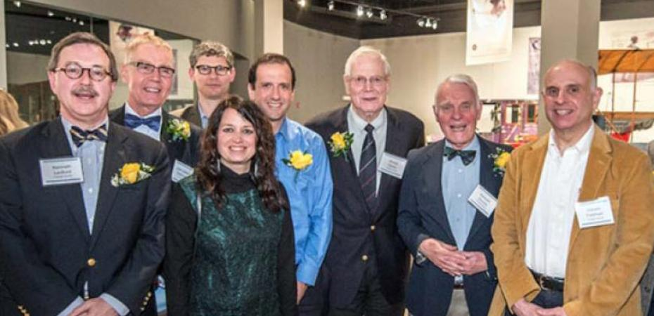 A group of CWRU faculty Fulbright winners pose for a picture at the International Achievement Dinner