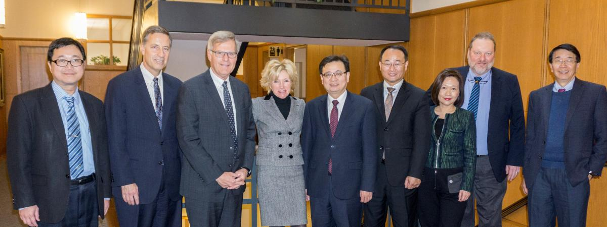 A delegation from Taipei Medical University visits CWRU in 2018