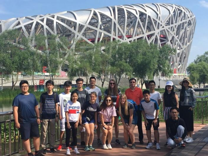 Professor David Zeng leads a study abroad course in Tianjin