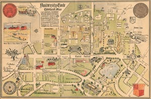 map of campus in 1950