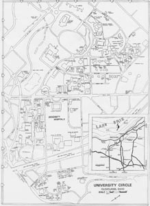 case western reserve university campus map The Changing Campus 1970 case western reserve university campus map