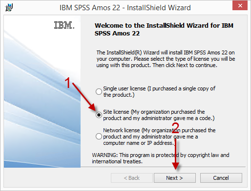 IBM SPSS Statistics 22 With Amos Installation Instructions