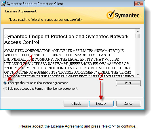 mis symantec problem