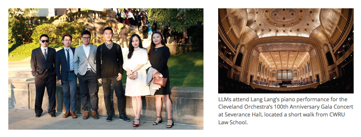 LLM students attend Lang Lang's piano performance for the Cleveland Orchestra's 100th Anniversary Gala Concert at Severance Hall, located a short walk from CWRU Law School.