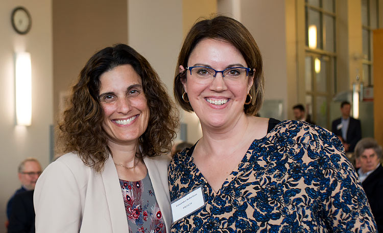 Case Western Reserve University Law School Dean Jessica Berg and Professor Cassandra Robertson