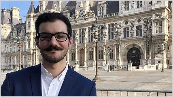 Case Western Reserve Law Student Garo Yaghsezian at the University of Paris