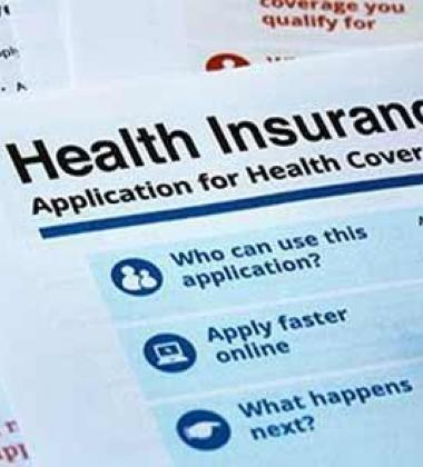 Application for Health Insurance bill paper