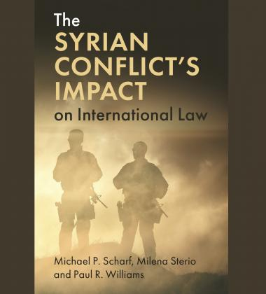 "Photo of the book, ""The Syrian Conflicts Impacts on International Law."""