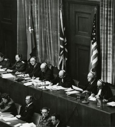 Photo of Nuremberg Trials