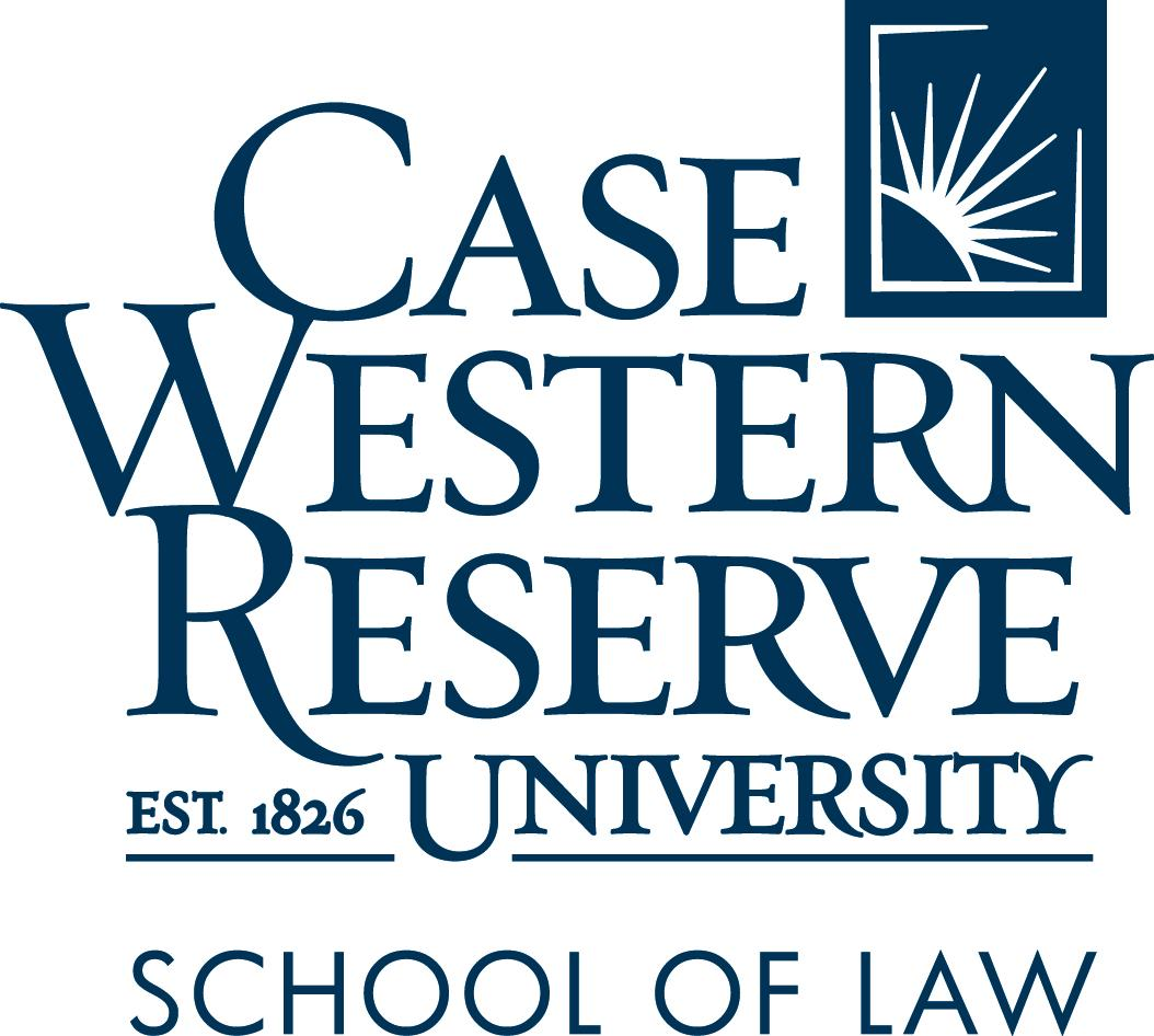 Case Western Reserve School of Law logo in blue (stacked)