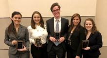 Jessup Team members (L to R) Megan MacCallum, Alex Lilly, Taylor Frank, Laura Graham and Andrea Shaia